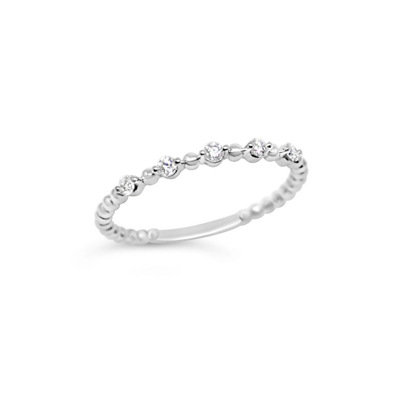 Diamond and Bead Ring