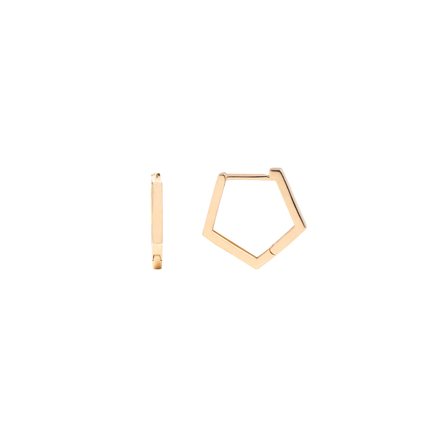 Geometric Gold Huggies