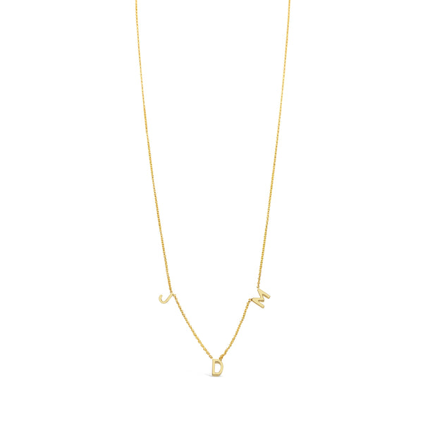 Centered Triple Initial Necklace