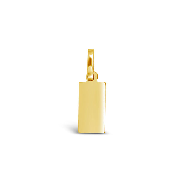 Rectangular Gold Charm