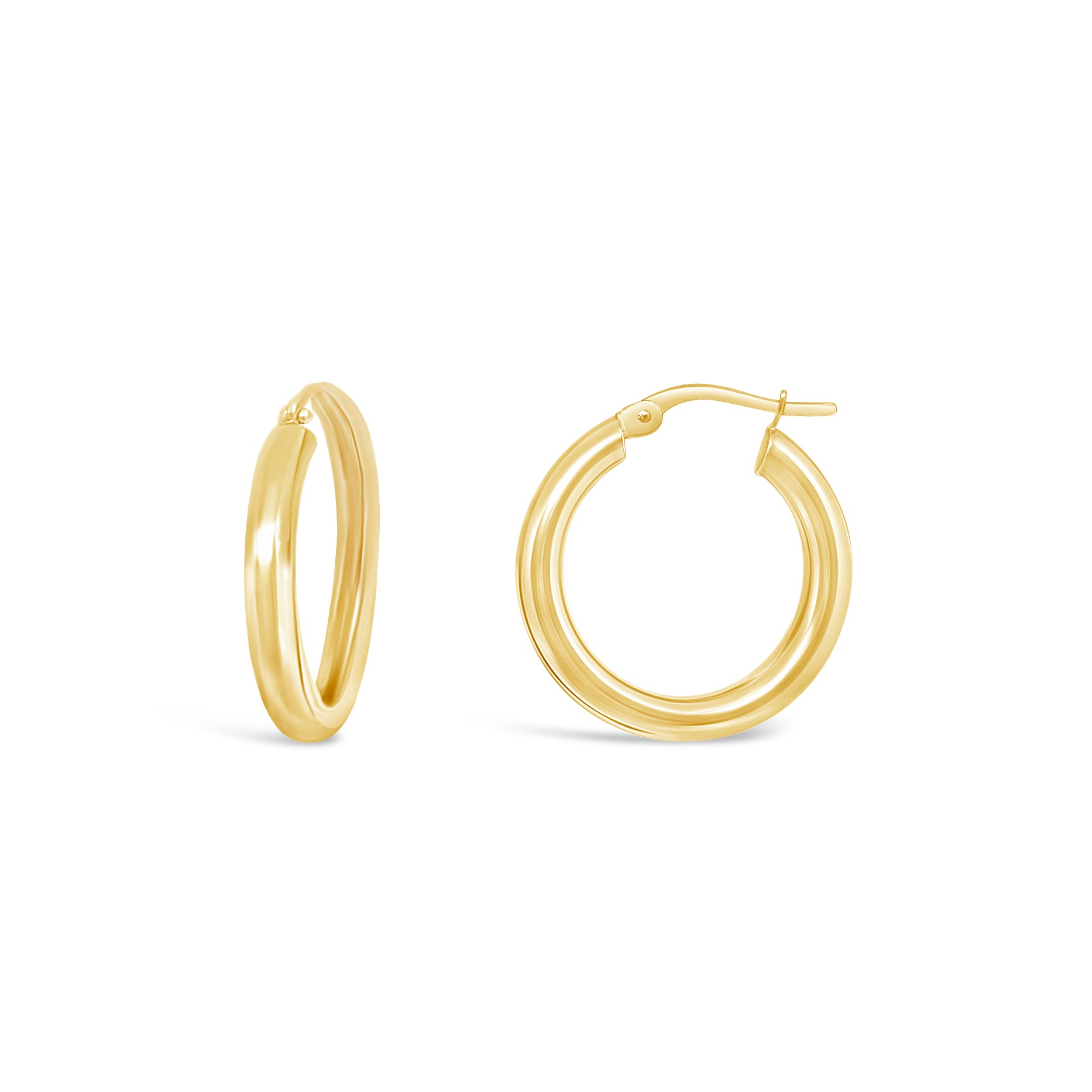 3mm Gold Hoops