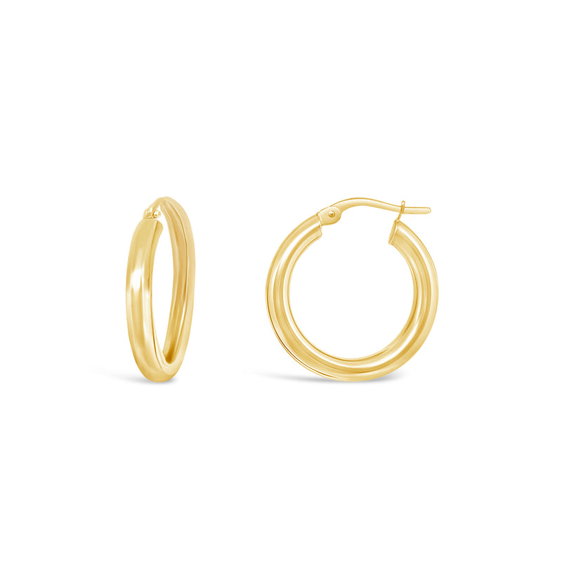 3mm Gold Tube Hoops