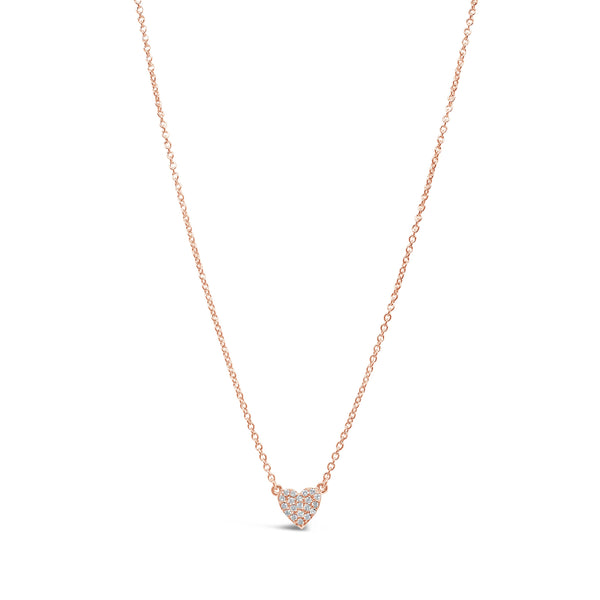 Petite Diamond Heart Necklace