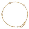 Jessica Jewellery yellow gold diamond by the yard bracelet.