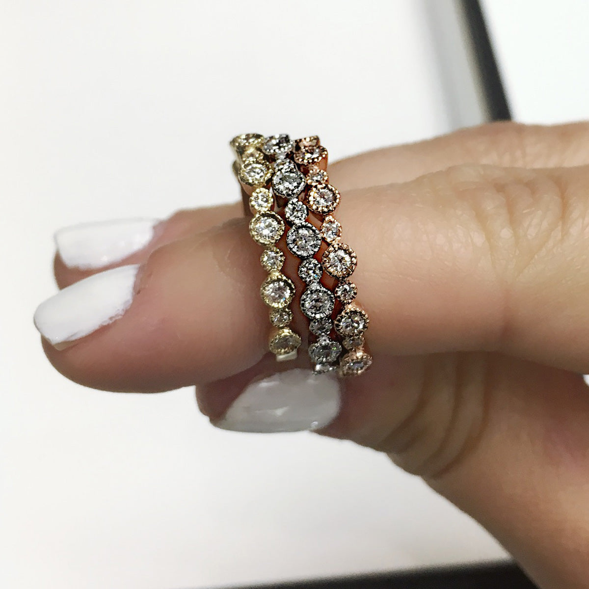 Multi-Circle Diamond Ring