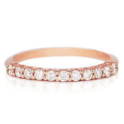 Jessica Jewellery rose gold raised diamond ring.