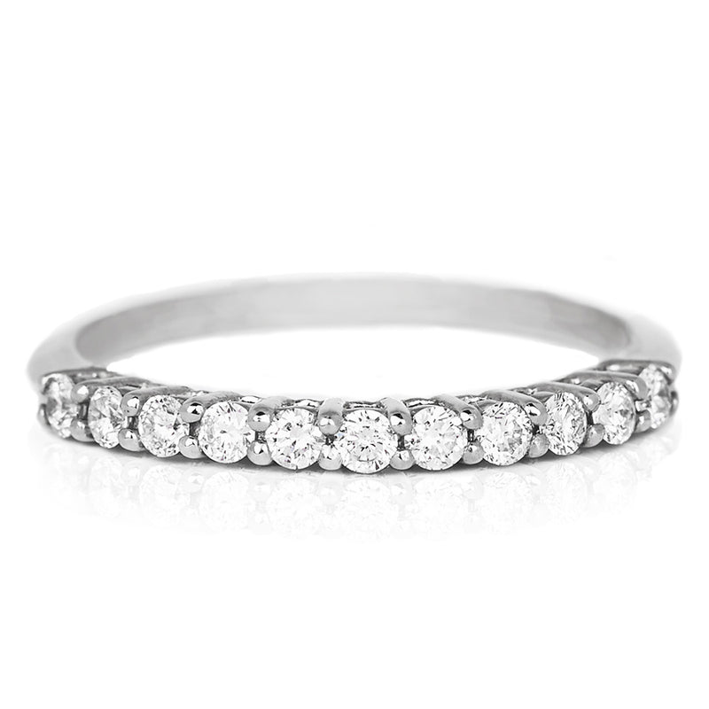 Jessica Jewellery white gold raised diamond ring.