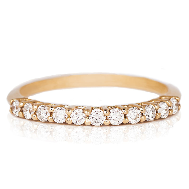 Jessica Jewellery yellow gold raised diamond ring.
