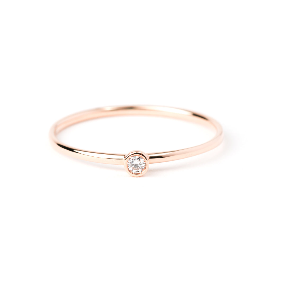 Bezel-Set Diamond Ring