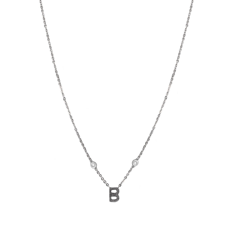 Diamond by the Yard Initial Necklace