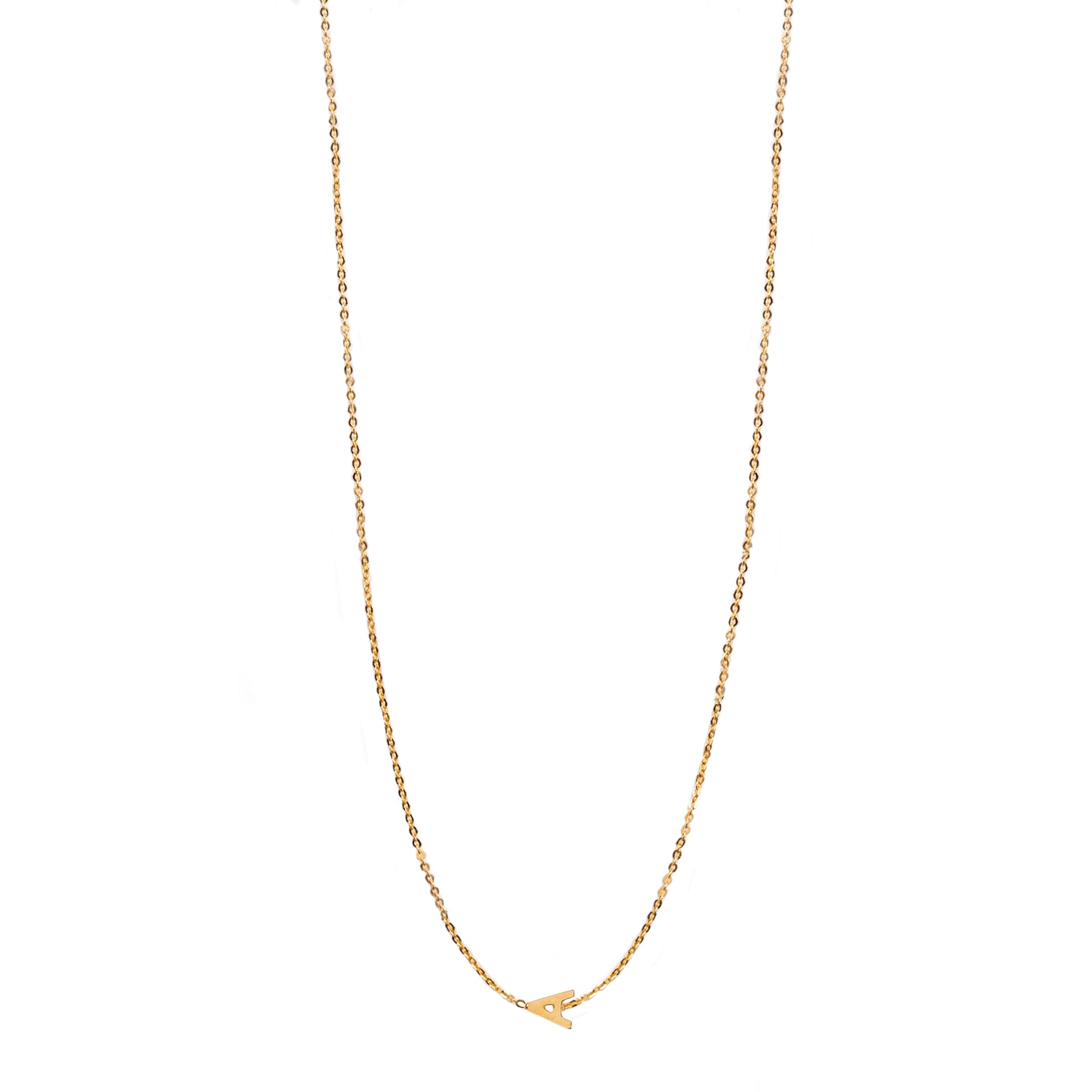 Horizontal Initial Necklace
