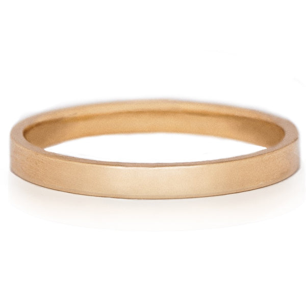 2mm Flat Gold Wedding Band
