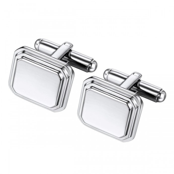 Rectangular Engravable Cuff Links