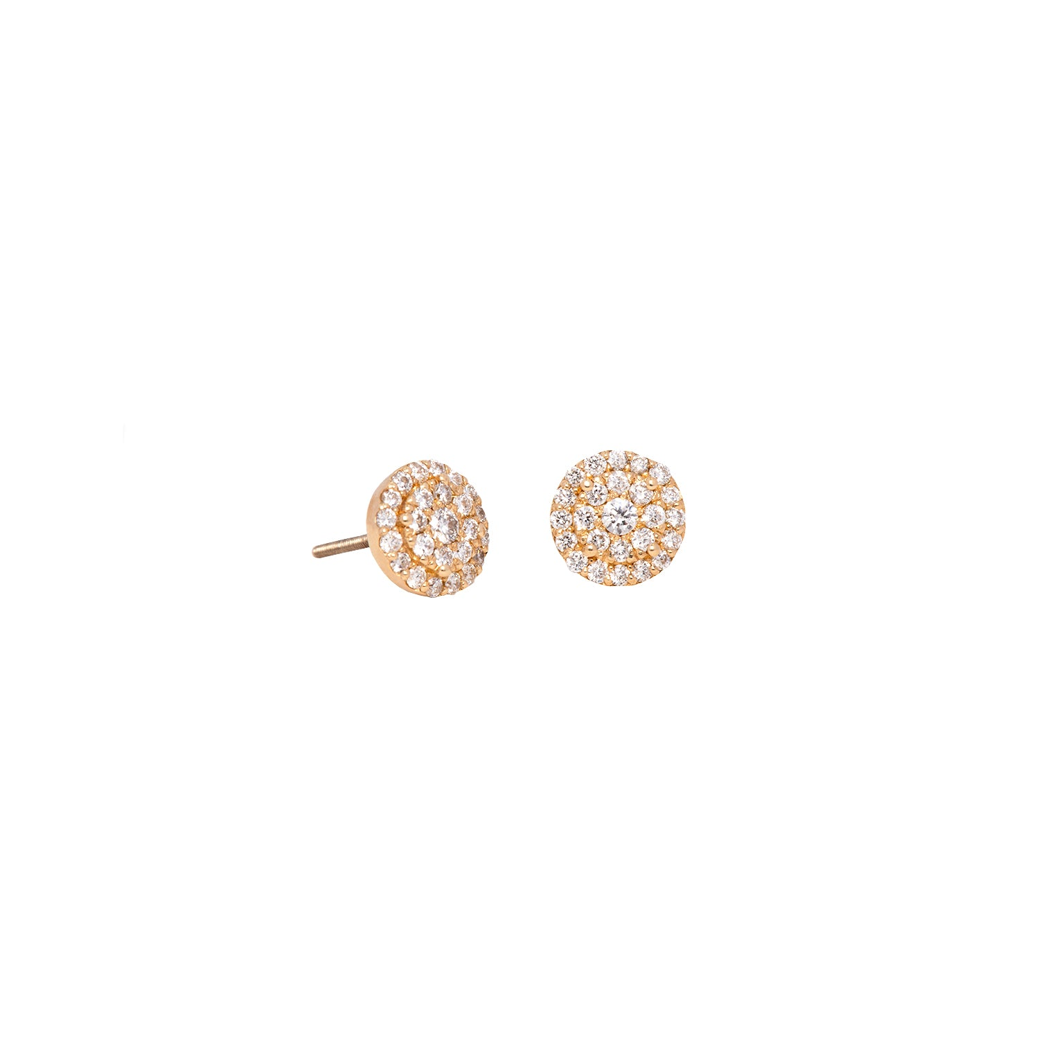 Round Illusion Diamond Studs