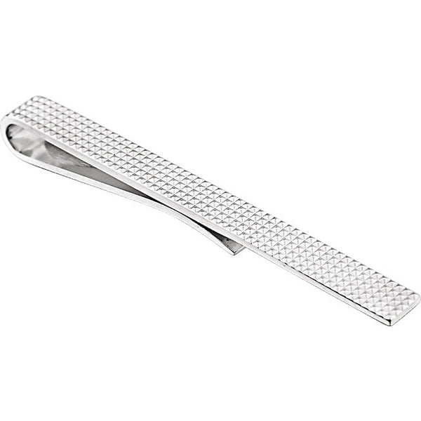 Sterling Silver Textured Tie Bar