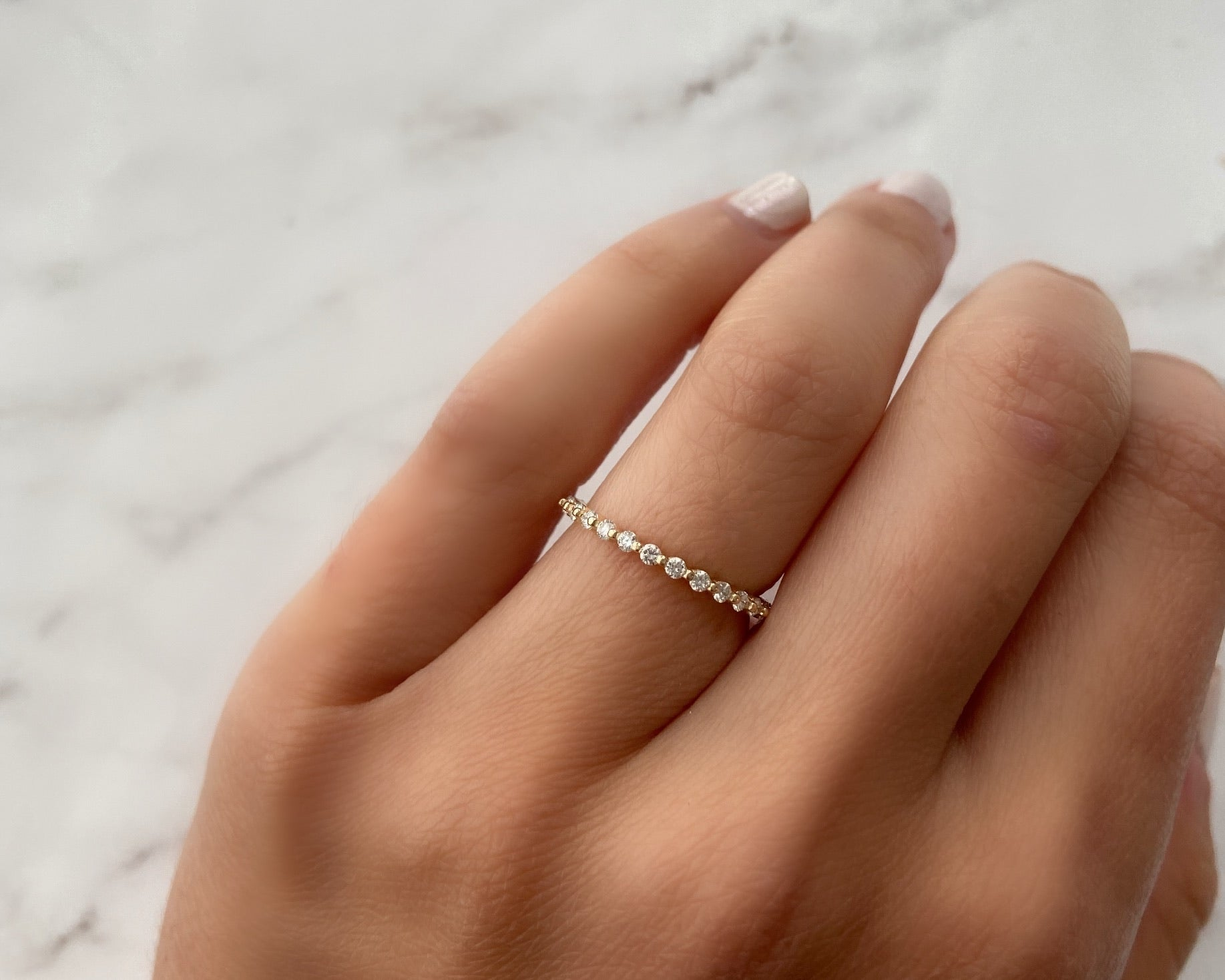 Single Prong Half Eternity Band