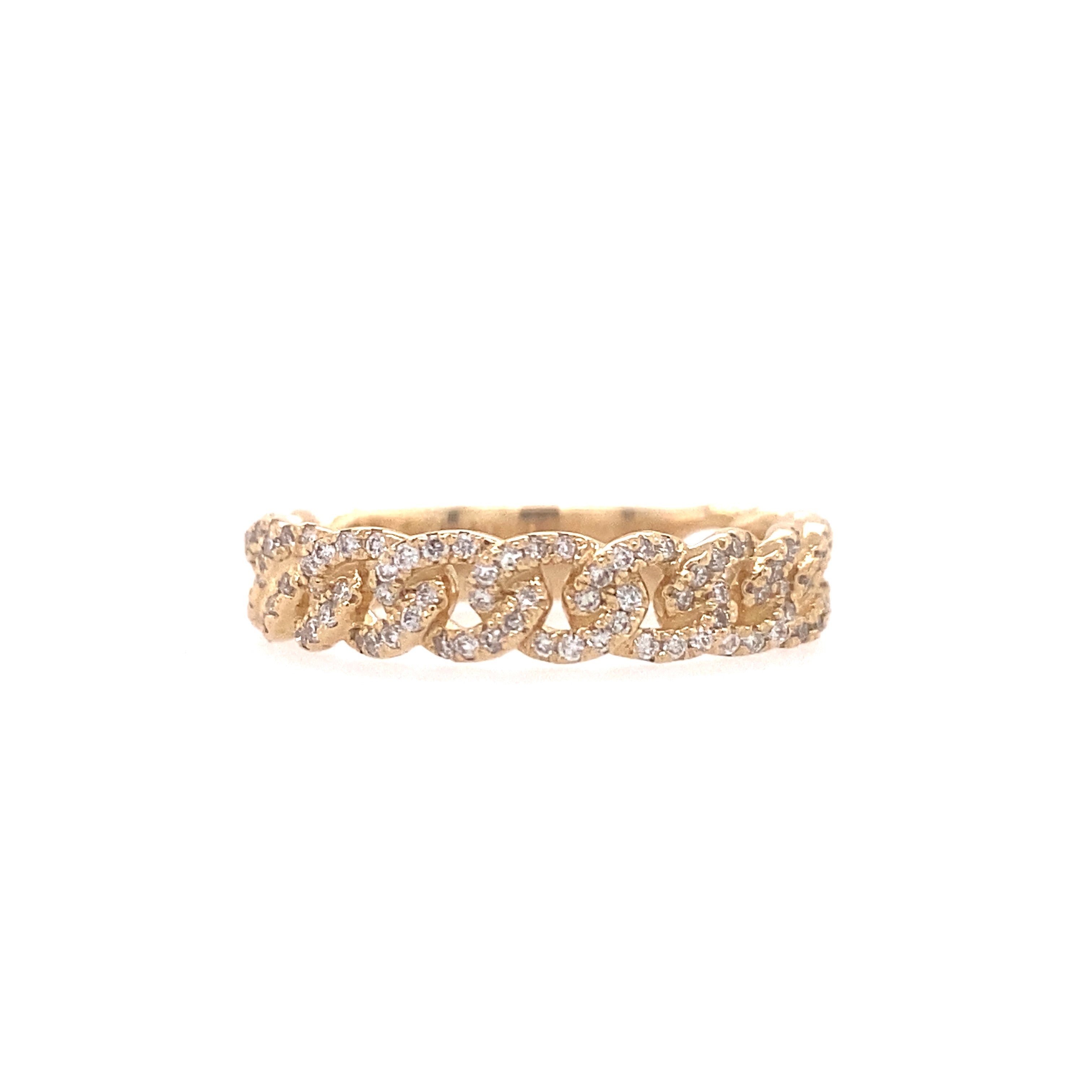 Diamond Curb Ring