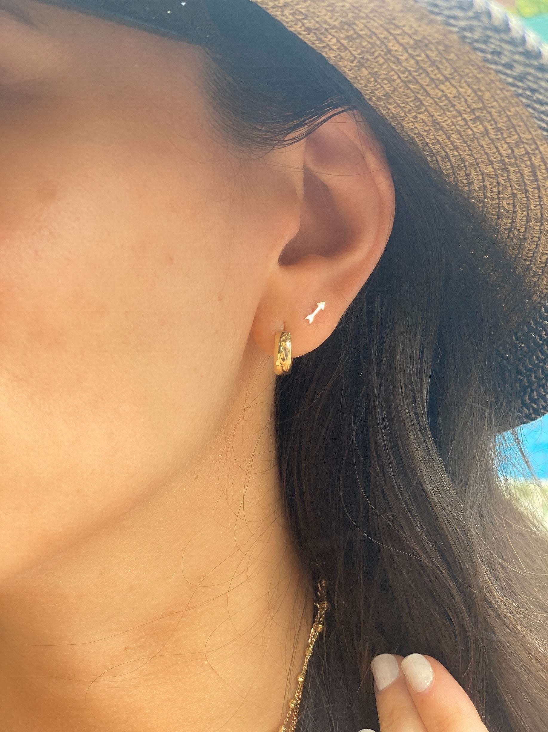 Petite Gold Arrow Studs