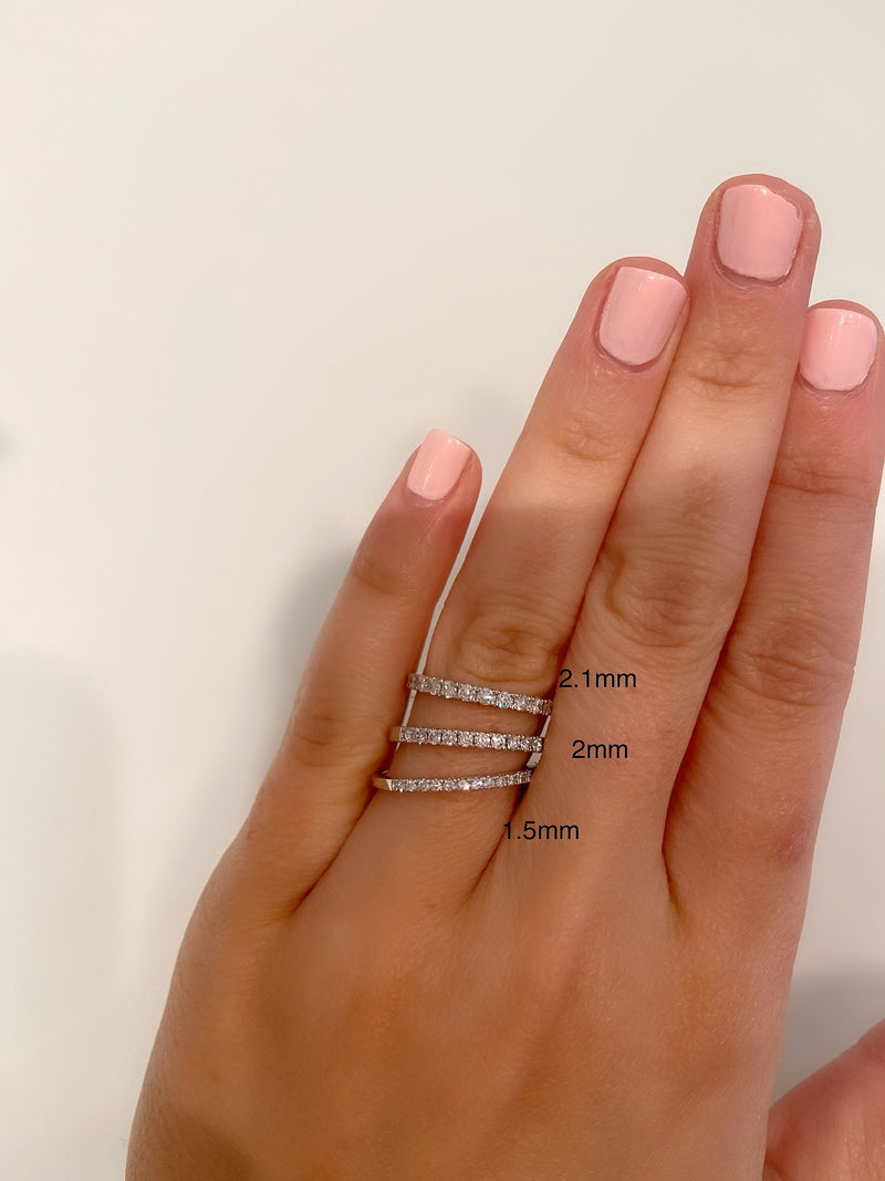 Pavé-Set Diamond Ring