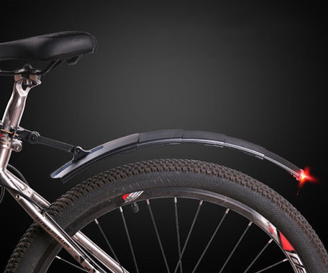 Retractable Bike Fender Mudguard With Taillight