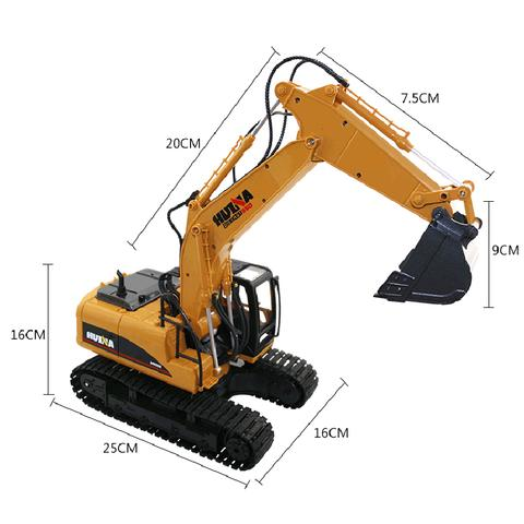 Remote Control RC Digger/Excavator Hydraulic Metal Die Cast Toy