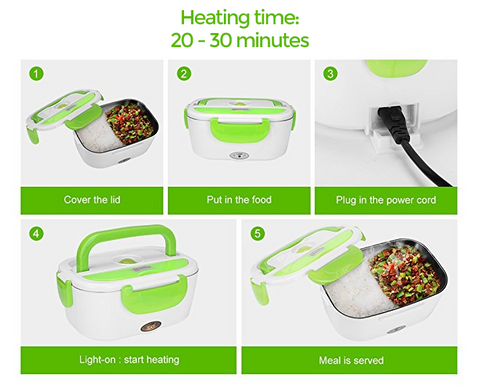 Portable Electric Heating Lunch Box Food Warmer