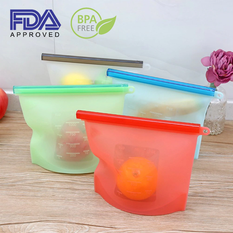 zippies premium silicone reusable food storage bags
