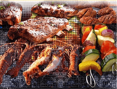 Best Non-Stick Mesh BBQ Grill Mat Liners Set of 3