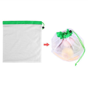 12pcs Reusable Storage Mesh Produce Bags