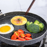 Best 4-Way Cups Holes Non Stick Frying Pan