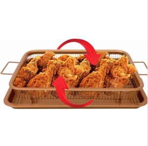 Copper Air Frying Baking Pan Crisping Tray