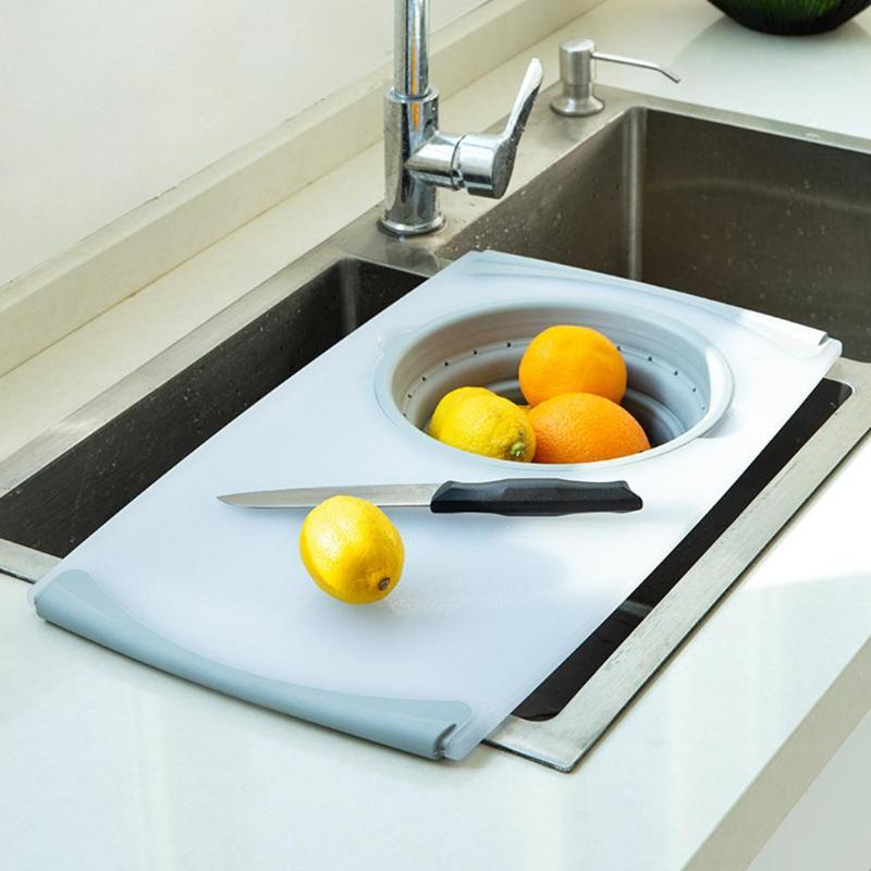 3 in 1 Multipurpose Over-The-Sink Cutting Board