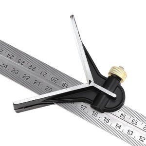 Universal Angle Protractor Ruler Bevel Combination Square Set
