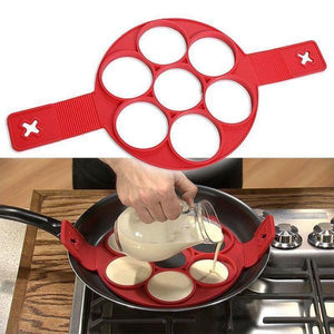 Silicone Pancake Mold Maker Ring Flip Cooker