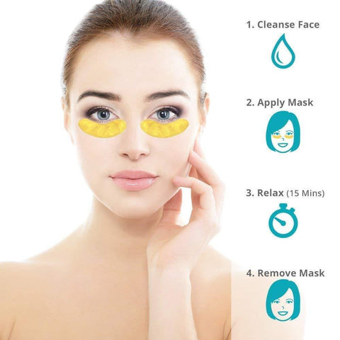 24K Gold Collagen Under Eye Treatment Masks
