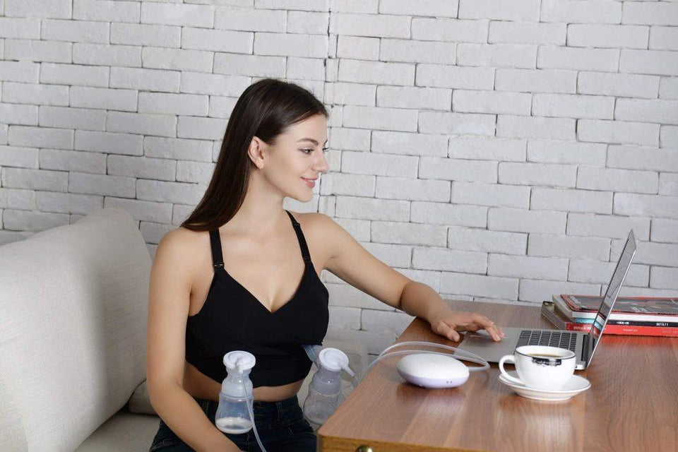 Hands-Free Breast Milk Pump Holder Bra