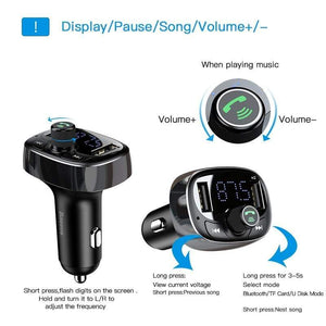 Bluetooth Car Charger Audio FM Transmitter
