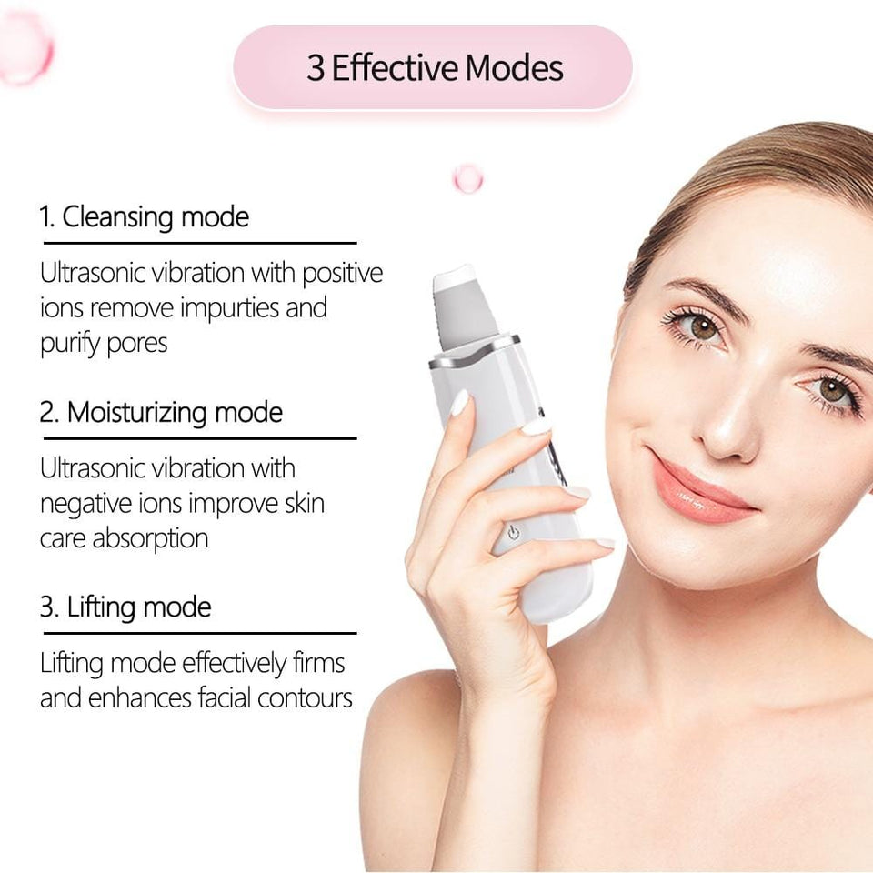 Ultrasonic Deep Facial Spatula Scrubber