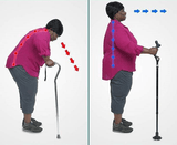 Height-Adjustable Multifunction Posture Cane