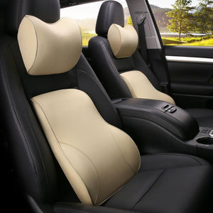 Car Lumbar Lower Back Support Pillow Set