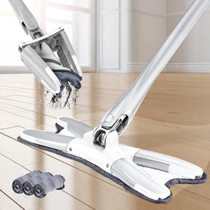 The X-Mop® Auto Twist & Wringing Microfiber Mop