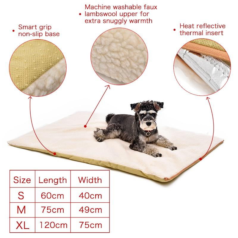 Self-Warming Heated Pet Bed