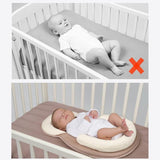 Anti-Rollover Anti-Flathead Portable Baby Bed Crib