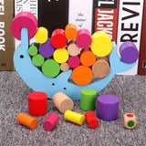 Colorful Wooden Moon Balancing Educational Toy