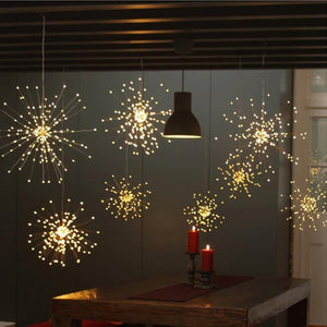 LED Copper Starburst Firework Hanging Lights