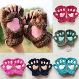 Cute Bear Paw Gloves