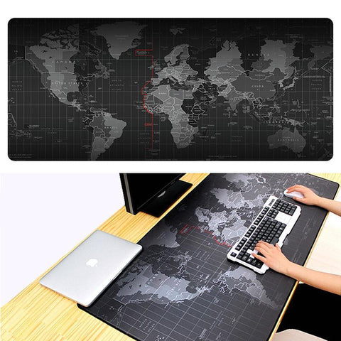 World Map Large Gaming Desk Mouse Pad