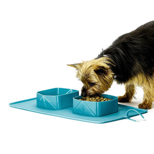 Portable Travel Rollup Pet Feeder
