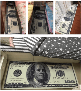 Hundred Dollar Bill Rug