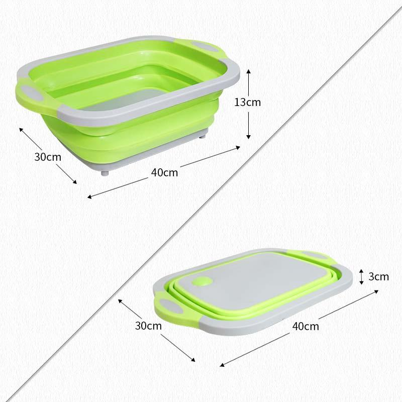 Multifunction Collapsible Wash Tub Cutting Board
